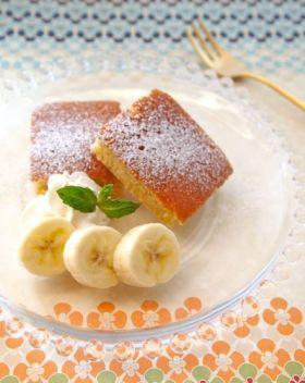 フライパンで☆しっとりバナナケーキ