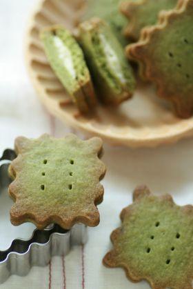 ●抹茶チョコサンドクッキー