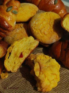 かぼちゃとクランベリーのメロンパン