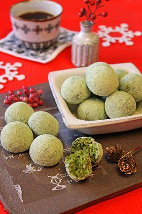 バター不使用抹茶のクリスマススノーボール