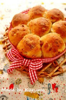 【クルミ】くるみとチーズのちぎりパン