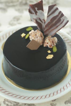 クルミのオペラ風ケーキ