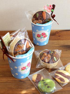 「お弁当のおとも菓子」ラッピング ブラウニーとクッキー