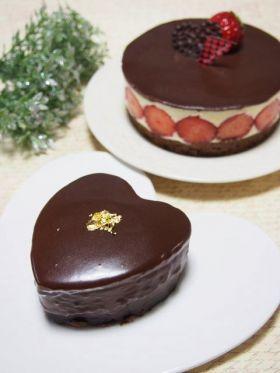 【バレンタイン】もちもち苺チョコケーキ