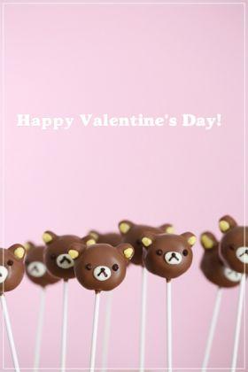 【バレンタイン】リラックマのケーキポップス