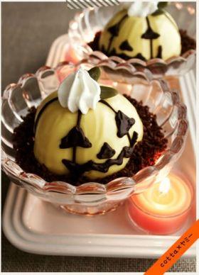 かぼちゃ味のジャック・オ・ランタン・レアチーズケーキ