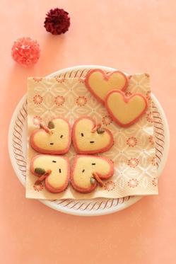 アップルハートクッキー