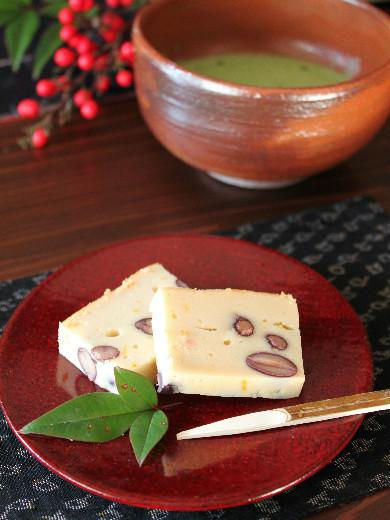 黒豆と柚子のチーズケーキ