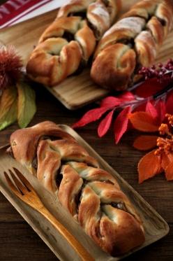 栗と柚子のツイストパン