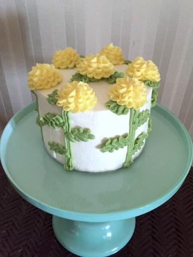 菊の花のケーキ