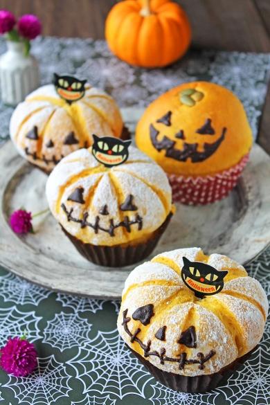 ハロウィンかぼちゃチーズあんパン