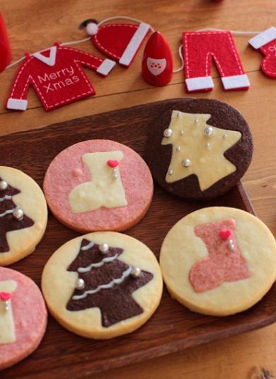 クリスマス★苺とココアのサクホロっ厚焼きクッキー