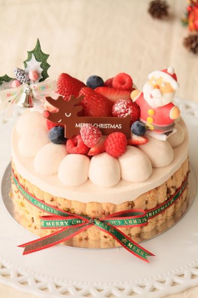 ミックスベリーのクリスマスチーズケーキ