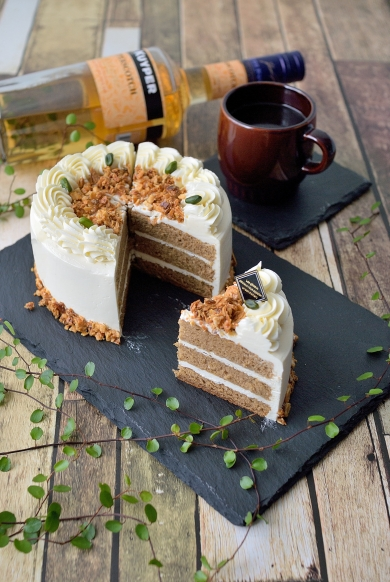 バタークリームのシンプルケーキ☆バタースコッチキャラメルで