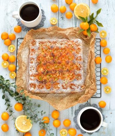 金柑とクリームチーズの焼きっぱなしケーキ