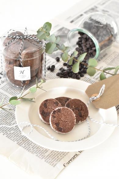 ダブルチョコレートのクッキー