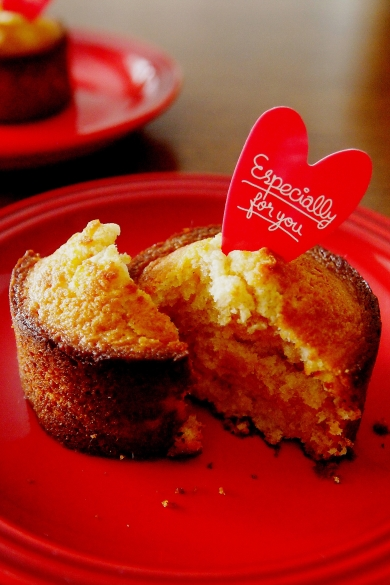 小さなキャラメルチョコケーキ♪