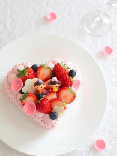 ひな祭りに♪桃色♡のデコレーションケーキ などなど
