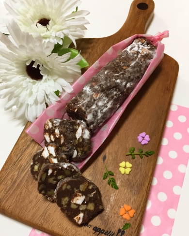 ミント風味のチョコサラミ
