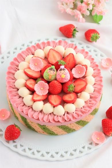 ひなまつり・苺のチョコレートチーズケーキ