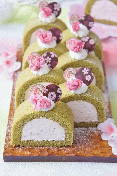 桜と抹茶のプレミアムケーキ