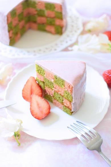 春のサンセバスチャンケーキ☆ストロベリー&抹茶