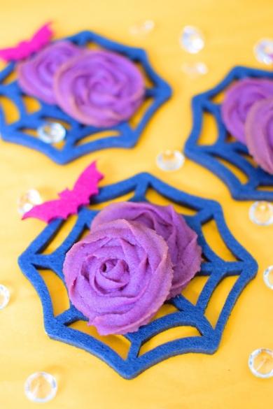 紫芋ローズクッキー☆