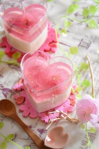 春爛漫♪桜のヨーグルトプリン