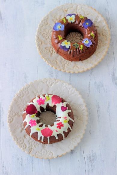 フラワーリースチョコレートケーキ