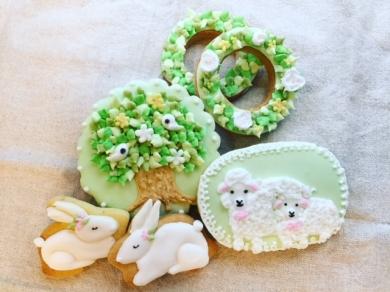 春のグリーンがテーマのクッキー