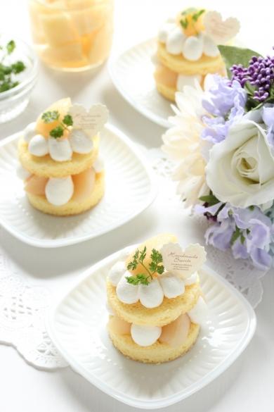 さわやか♡桃のプティショートケーキ