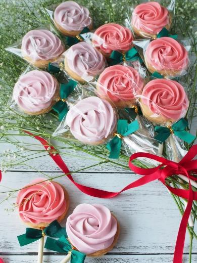 薔薇の花束クッキー♡