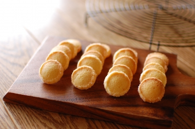 ひとくちサイズのバニラクッキー