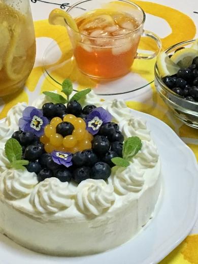 ブルーベリーチーズショートケーキ☆グルテンフリー♪