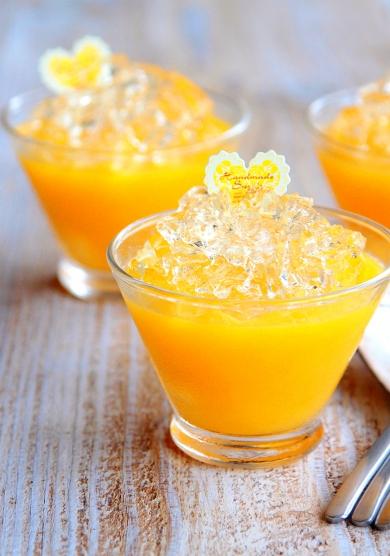 ♡混ぜて冷やして超簡単♡オレンジレモンのキラキラゼリー♡