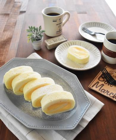 ふんわり白い☆フロマージュロールケーキ