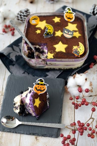 紫芋のティラミス風スコップケーキ