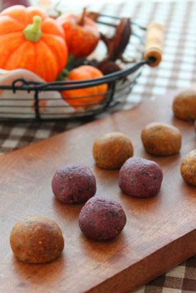 大豆粉と黒ごまのハロウィンボール