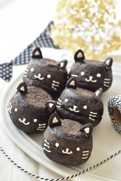 黒猫のチョコパン