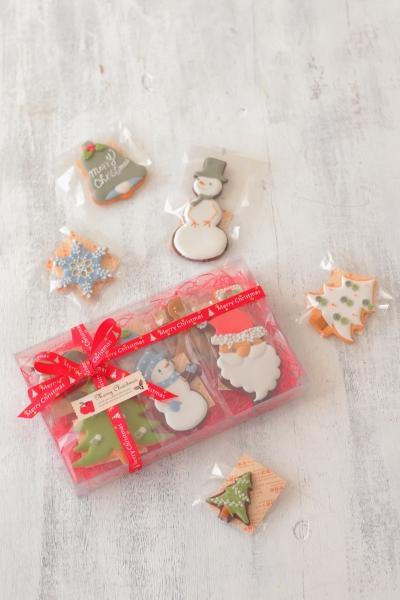 クリスマスアイシングクッキーラッピング
