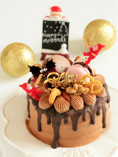 * クリスマス ☆ チョコナッツケーキ♪