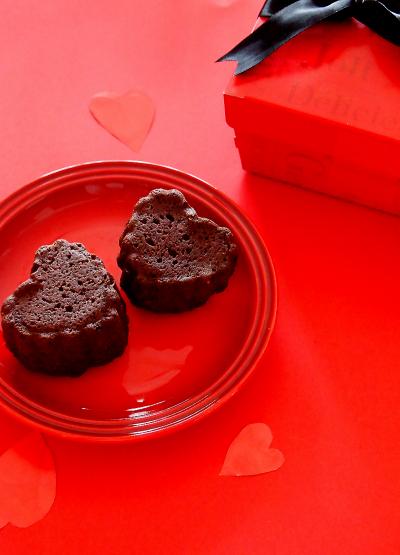 ハートのオレンジチョコケーキ♪