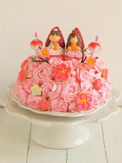 * ひな祭り ♡ 苺のひな祭りケーキ♪