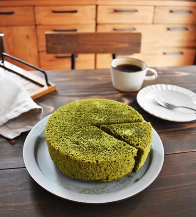 【サーモス×保温調理】抹茶の蒸しケーキ