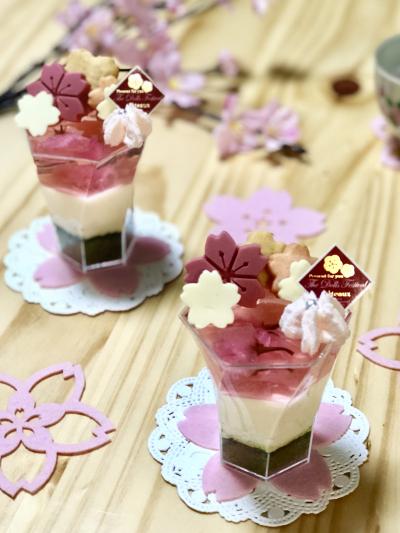 桜のホワイトチョコムース