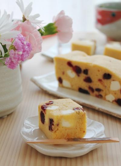 クランベリーとクリームチーズの浮島
