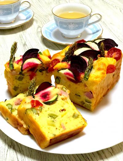 マッシュポテトと野菜のケーク・サレ