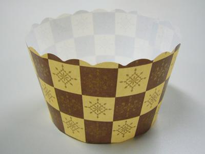 M565ベーキングカップ 茶ブロック