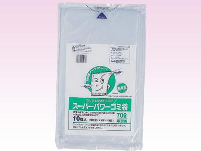 スーパーパワーゴミ袋 70L(10枚入半透明白)