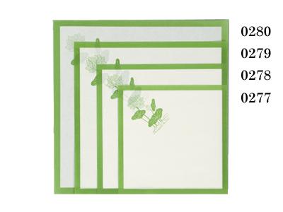 敷紙 6寸 緑蓮